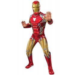 Fantasia Homem de Ferro Adulto Clássico Luxo