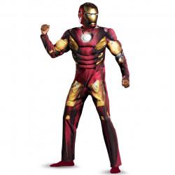 Fantasia Homem de Ferro Adulto com Músculos