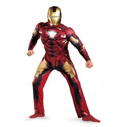 Fantasia Homem de Ferro Adulto Luxo com Músculos