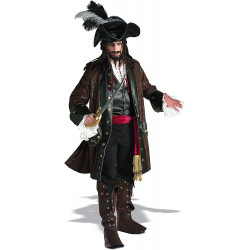Fantasia Jack Sparrow Luxo Piratas do Caribe Adulto
