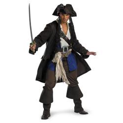 Fantasia Jack Sparrow Piratas do Caribe Adulto Luxo