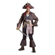 Fantasia Jack Sparrow Piratas do Caribe POTC5 Adulto Luxo