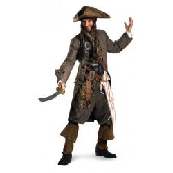 Fantasia Jack Sparrow Piratas do Caribe Super Luxo