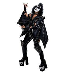 Fantasia Kiss Gene Simmons Demon Luxo Adulto
