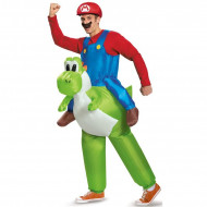 Fantasia Mario e Yoshi Inflável Inflável Adulto