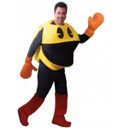 Fantasia PacMan Pac Man Luxo Adulto