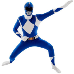 Fantasia Power Rangers Azul Luxo