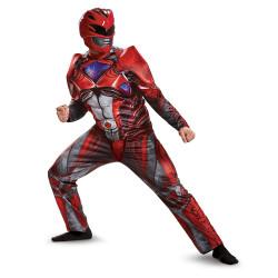 Fantasia Power Rangers Vermelha Filme Adulto Luxo