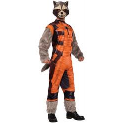 Fantasia Rocket Raccoon Guardiões da Galáxia Adulto Luxo