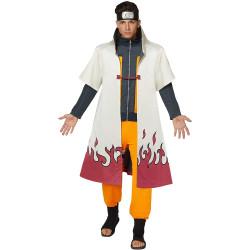 Fantasia Roupão Naruto Hokage Anime Uzumaki Luxo Adulto