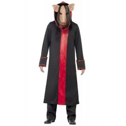 Fantasia Saw Pig de Jogos Mortais Adulto Luxo