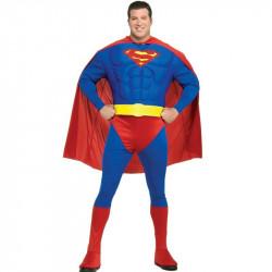 Fantasia SupernMan Super Homem Adulto Masculino Extra Grande