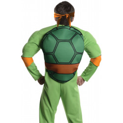 Fantasia Tartarugas Ninja Adulto Luxo Michelangelo com Músculos