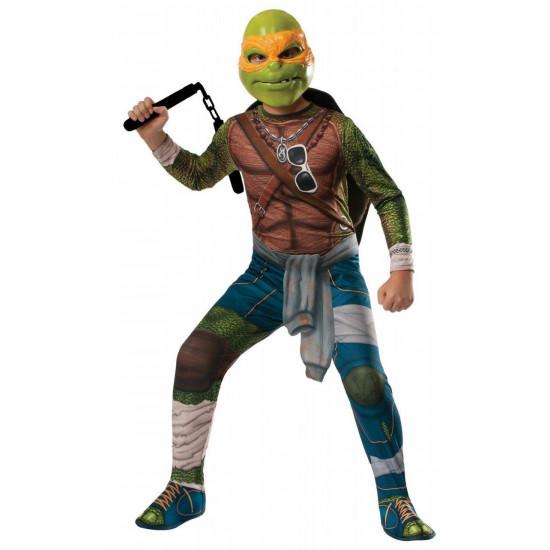 Fantasia Tartarugas Ninja Luxo Michelangelo com Músculos Adulto