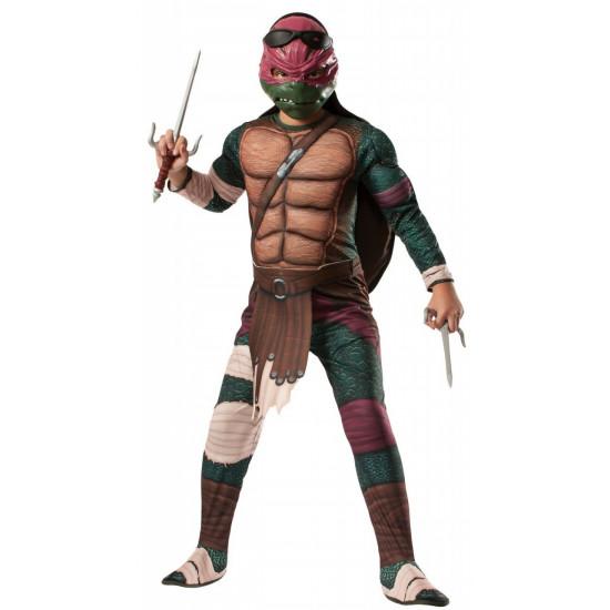 Fantasia Tartarugas Ninja Luxo Rafael com Músculos Adulto