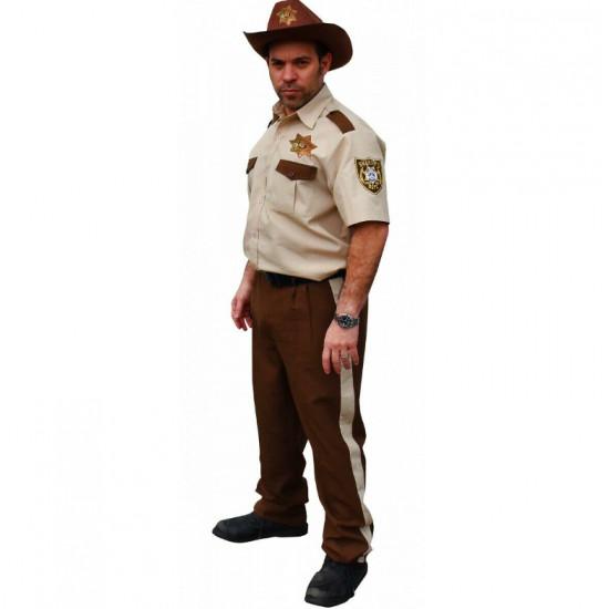 Fantasia Walking Dead Rick Grimes Adulto Luxo