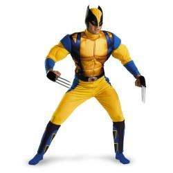 Fantasia Wolverine X Men Adulto Luxo com Músculo