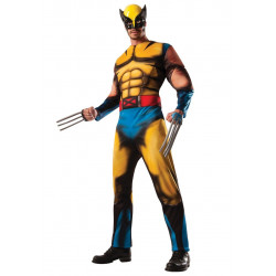 Fantasia X Men Wolverine Adulto Luxo com Músculo
