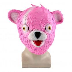 Máscara Fortnite Urso Rosa Adulto Clássica