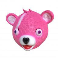 Máscara Fortnite Urso Rosa Adulto Luxo