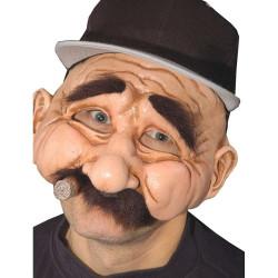 Máscara Homem Velho Vovô Fumando Adulto Luxo