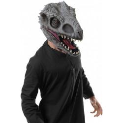 Máscara Jurassic Park O Mundo dos Dinossauros Indomirus TRex Adulto Luxo