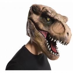 Máscara Jurassic Park O Mundo dos Dinossauros T Rex Adulto Luxo