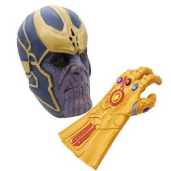 Máscara Luva Thanos Guerra Infinita Adulto Luxo