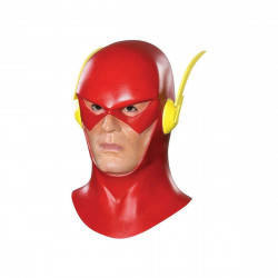 Máscara The Flash Cosplay Luxo Vermelho Adulto Animado