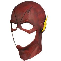 Máscara The Flash Luxo Vermelho Cosplay