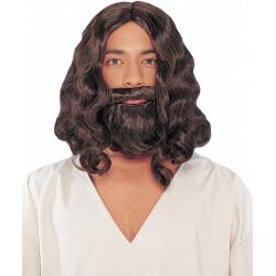 Peruca Barba e Bigode de Jesus Luxo