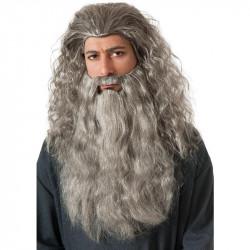 Peruca e Barba Gandalf Senhor dos Aneis Adulto