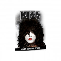 Peruca Kiss Starchild Luxo Adulto