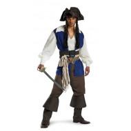 Piratas do Caribe Fantasia Adulto Capitão Jack Sparrow