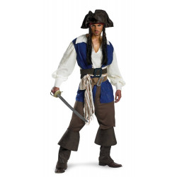 Piratas do Caribe Fantasia Adulto Capitão Jack Sparrow