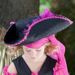 Chapéu Pirata Pink Infantil