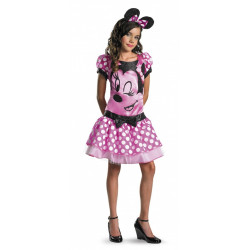 Fantasia Adolescente Minnie Mouse Vestido Rosa