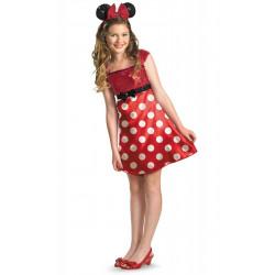 Fantasia Adolescente Minnie Mouse Vestido Vermelho