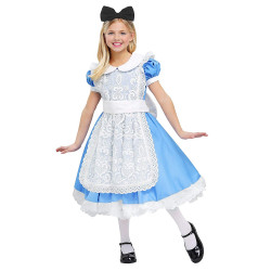 Fantasia Alice no País das Maravilhas Infantil Elite