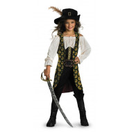 Fantasia Angelica Piratas do Caribe Infantil Luxo