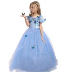 Fantasia Cinderela Infantil Borboletas