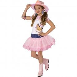 Fantasia Cowgirl Cowboy Vaqueira Pink