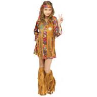 Fantasia de Hippie Paz e Amor Infantil