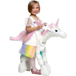 Fantasia de Montar Unicórnio Arco Iris Infantil