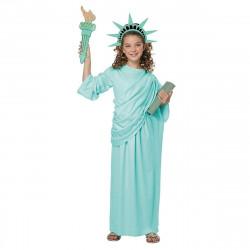 Fantasia Estátua da Liberdade Infantil Luxo
