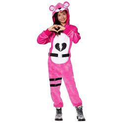 Fantasia Fortnite Urso Rosa Infantil Luxo