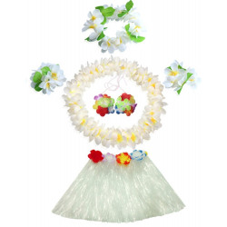 Fantasia Havaiana Clássico Branco Infantil