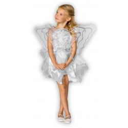 Fantasia Infantil Anjo do Céu Branco Luxo