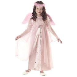 Fantasia Infantil Anjo Rosa Clássica