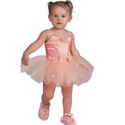 Fantasia Infantil Bailarina Cor de Rosa